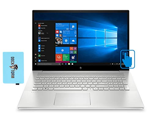 HP Envy 17t-cg000 Home and Entertainment Laptop (Intel i7-1065G7 4-Core, 64GB RAM, 8TB PCIe SSD, NVIDIA MX330, 17.3' Touch Full HD (1920x1080), Fingerprint, WiFi, Bluetooth, Win 10 Home) with Hub