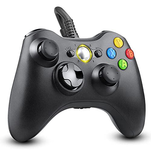 BeaSaf Controller per Xbox 360, Wired Game Controller per Xbox 360 Joystick Compatibile per Microsoft Xbox 360/Xbox 360 Slim/PC (Windows 7/8/8.1/10/XP/Vista)