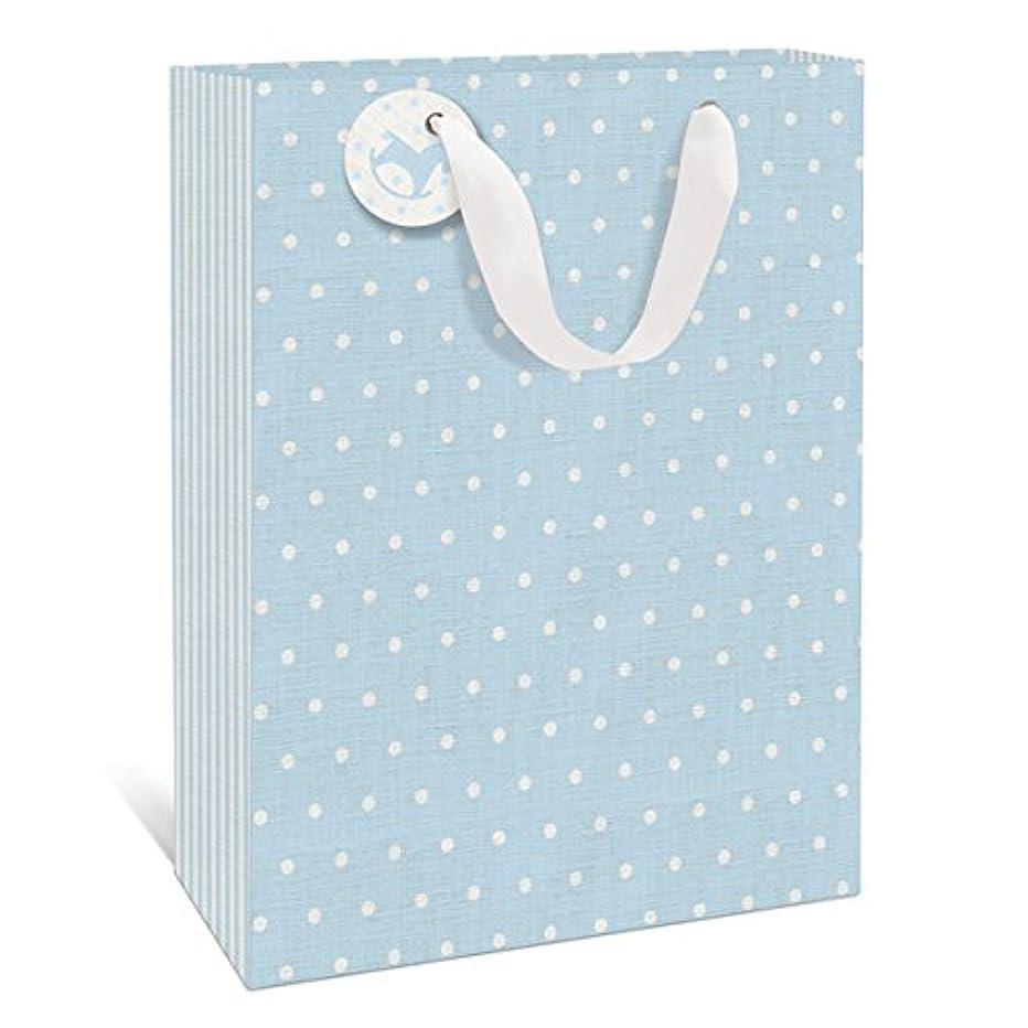 Linen Baby Blue Large Gift Bag