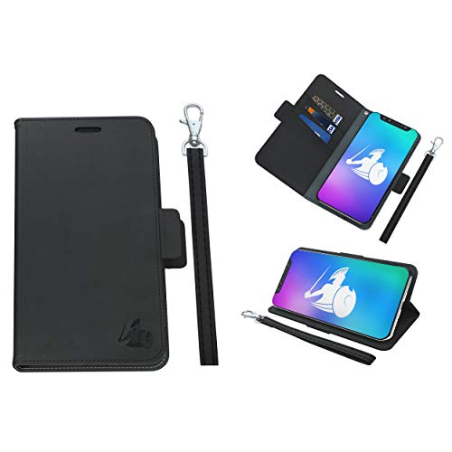 DefenderShield Universal Cell Phone 5G & EMF Radiation Shield - Detachable Magnetic Wallet Case w/Wrist Strap - Anti Cell Phone Radiation Protection (Up to 6.5' x 3.2' Phones)