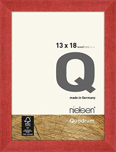 Nielsen Holz Bilderrahmen Quadrum, 13x18 cm, Rot
