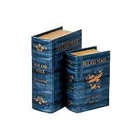 ブック型収納ボックス BOOK BOX 2個セット 28266