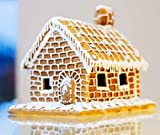 Build Your Own Large Delicious Gingerbread House Kit - Includes Templates, Decorating Bag, Icing & Sprinkle - 830 g