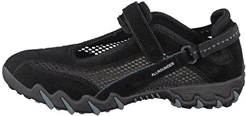 Allrounder by Mephisto Women's NIRO Sneaker, Black, 8.5