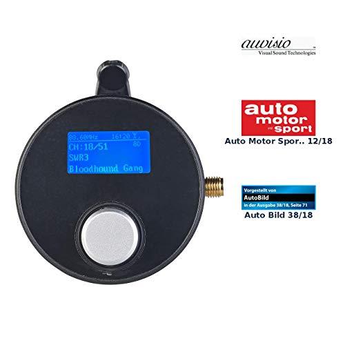 auvisio DAB Empfänger Auto: DAB+/DAB-Empfänger mit FM-Transmitter, AUX-Audioausgang, für Kfz/HiFi (DAB Adapter Auto)