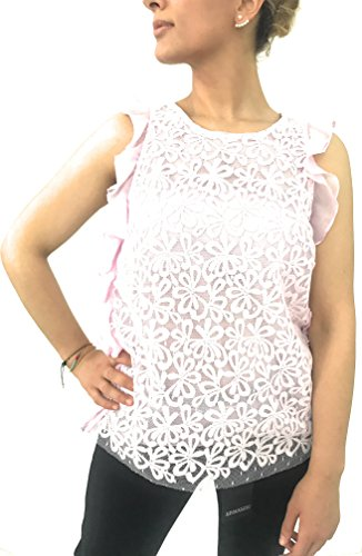 ERMANNO SCERVINO Top in Macrame Rosa (42)