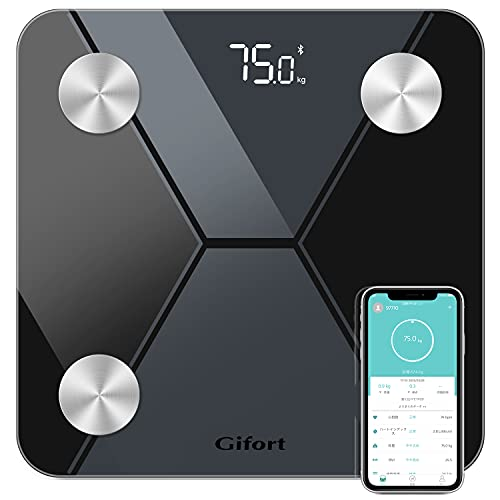 体重計 体組成計 スマホ連動 体脂肪計 高精度ITO&BIA技術 体脂肪/体水分/筋肉量/BMIなど多項指標 赤ちゃんの体重計算可能 iPhone/Androidアプリで健康管理