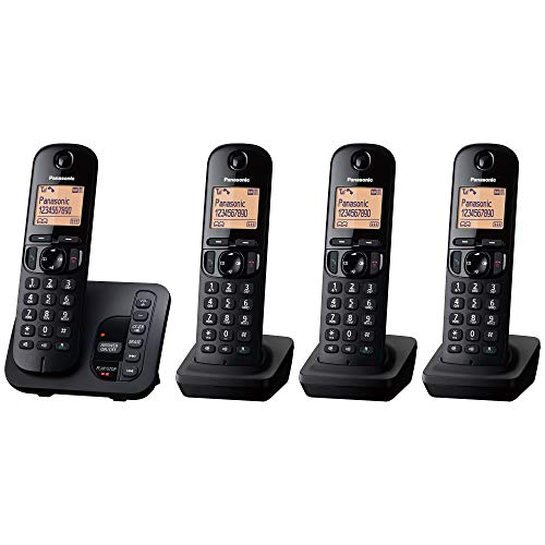 Panasonic KX-TGC224EB Digital Telefono Cordless with LCD Display - Nero (Confezione da...