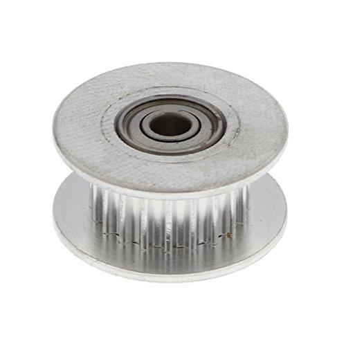 D DOLITY Edelstahl 2GT Zahnriemenrad Zahnrad 5mm Bore Drive Gear für 6mm breit Gurt Zahnriemen 3D Drucker Zubehör