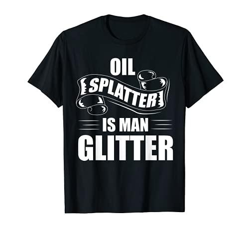 SPLATTER DE ACEITE ES EL DISEÑO DE GLITTER MAN Camiseta