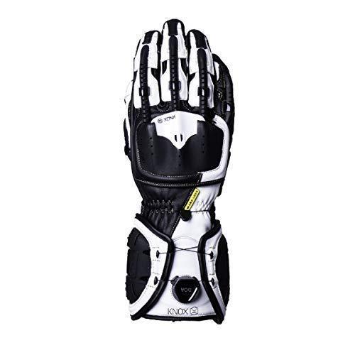 Knox Handroid verano guantes de moto de cuero Negro/Blanco - pasos