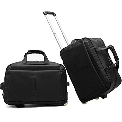 Cabin Bags Holdall with Wheels, Aerolite Suitcase Trolley Bags Travel Laptop Backpack for Laptop Work And Business Suitcase Cabin Case,Nero,20in