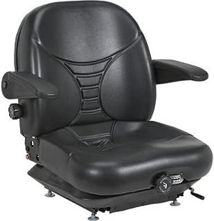 Milsco Highback Suspension Seat with Arm Rests - Black, Model Number V-5300