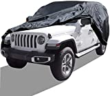 Luanoy Auttely Car Cover Replacement for Jeep Wrangler 2004-2019 Unlimited 4 Door SUV