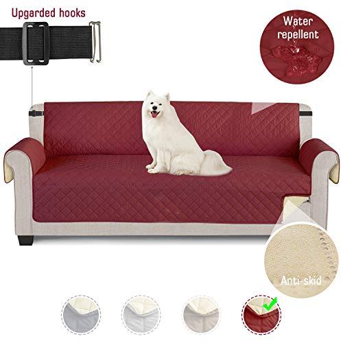 TAOCOCO Funda de sofá Impermeable Funda de cojín de protección para Mascotas Funda de sofá antisuciedad (Rojo/ 4 Plazas 195 * 218cm)