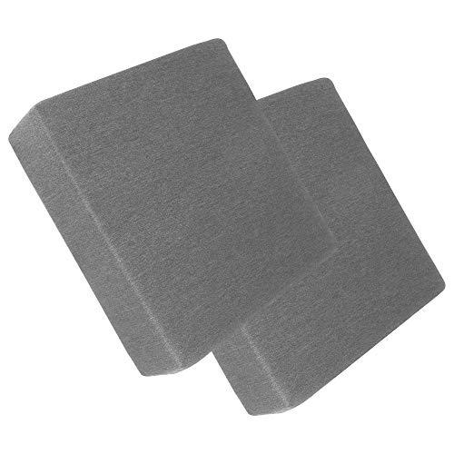 Orthopädisches Sitzkissen - 2er Set, Sitzauflage, Sitzerhöhung, Stuhlkissen | Druckentlastung für Bandscheiben, Rücken und Steißbein | Größe: 45x45 cm, Höhe: 10 cm für mehr Sitzkomfort (Grau)