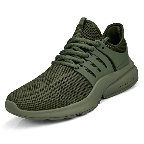 Troadlop Women's Breathable Mesh Tennis Athletic Lace up Fashion Walking Comfort Lightweight Running Sneakers Sports Shoes Size 9 Green