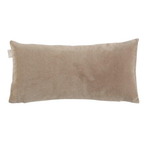 Linum Kissenhülle Mimi B40 Schlamm 25cm x 50cm aus Baumwollsamt und Seide mit Reißverschluss