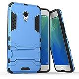 tinyue® Handyhülle für Meizu M5S, Hülle 2 in 1 Material Harte Schwer doppelte kratzfester Handyfall im Freienhandyfall Iron Man Rüstung mit Kickstand Hülle, Blau