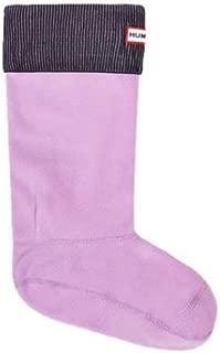 Women's Rain Boot Socks, Black/Bright Lavender, 11-13 (XL)