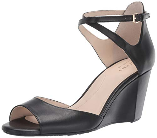 Cole Haan Women's Sadie Grand Open Toe Wedge Sandal (75MM Pump, Black, 5.5 B US