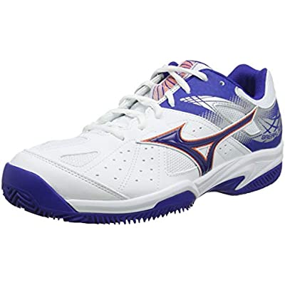 Mizuno Break Shot 2 CC, Zapatillas de Tenis Hombre, Blanco White Reflex Blue Nasturtium 27, 40.5 EU