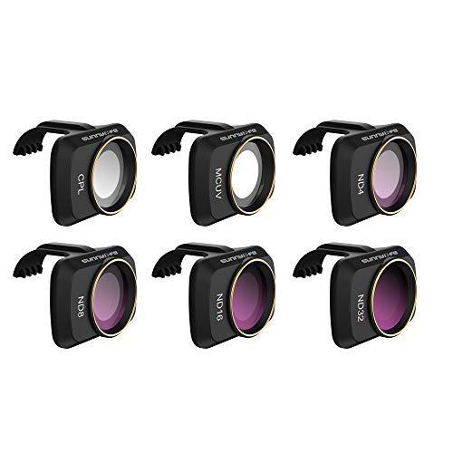 GLOBACT Juego de filtros de lente compatibles con DJI Mavic Mini/Mini 2, juego de 6 filtros de objetivo combo para objetivo de cámara (CPL MCUV ND4 ND8 ND16 ND32)