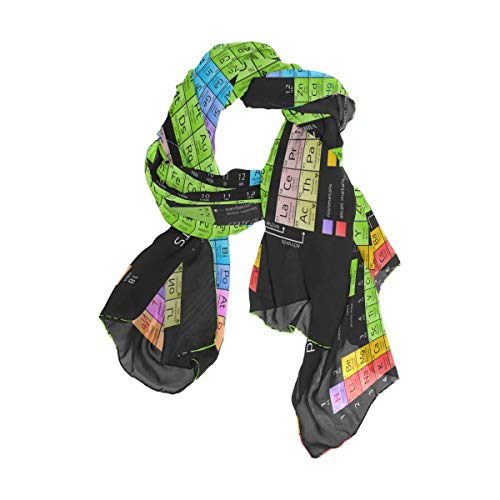 XMCL Periodic Table Of The Element Atomic Scarf Scarves Soft Lightweight Long Sheer Wrap Shawl for Women, 90 x 180 cm