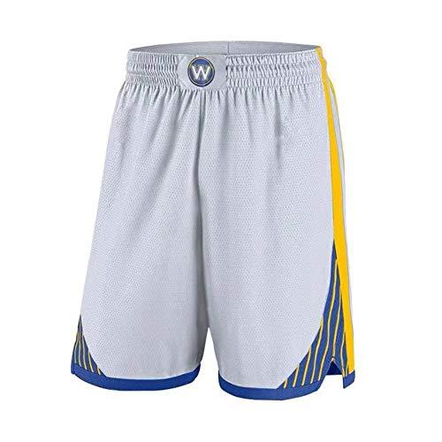 HANJIAJKL Pantalones Cortos de Baloncesto Hombres,NBA Golden State Warriors 30# Stephen Curry,Bordado Transpirable y Resistente al Desgaste Retro Baloncesto Uniformes,Blanco,XL