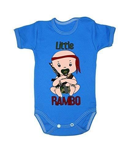 Colour Fashion Little Rambo Garçon Fille Unisexe Combinaison Manche Courte 100% Cotton Petit Bébé - 24 Mois 0022 - Bleu, Tiny Baby, 52 cm