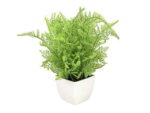 artplants.de Forestal Artificial Helecho elizabette en un Pot, Verde Claro, 30cm - Helecho Artificial - Planta Artificial