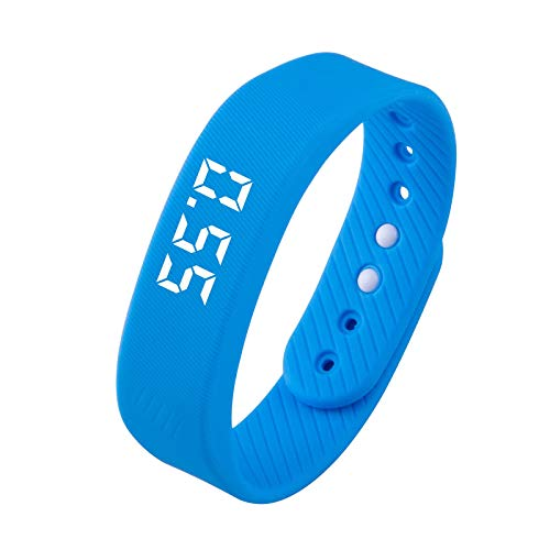 MERIGLARE Paso Podómetro Fitness Smart LED Monitor Sport Pulsera para Caminar - Azul