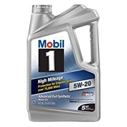 mobil 1 5w-20 high mileage advanced full synthetic motor oil