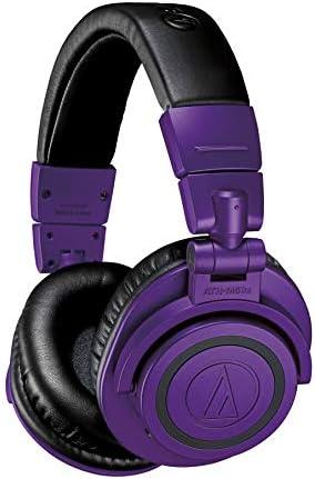 Audio Technica ATH M50xBTPB Wireless Bluetooth Over Ear Headphones Purple Black Purple Black product image