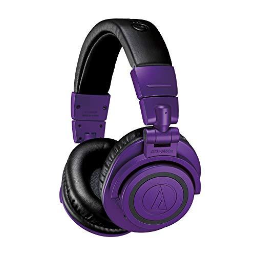 Audio-Technica ATH-M50xBTPB Wireless Bluetooth Over-Ear Headphones, Purple/Black Purple / Black