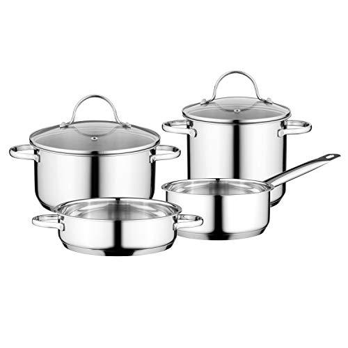 BergHOFF Essentials Comfort 6pc 18/10 Stainless Steel Cookware Set