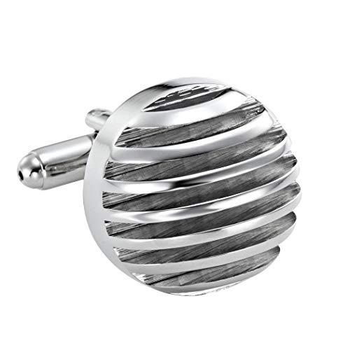 Pour hommes boutons de manchette virils demi-sphère argentée acier inoxydable 316L
