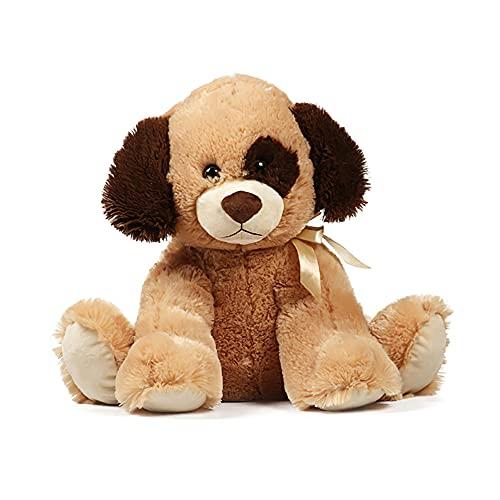 Juguete de peluche para perro, cojín de juguete, peluche, perrito para bebés, artículo decorativo para salón, dormitorio infantil, niña, niño, color marrón oscuro, 25 cm