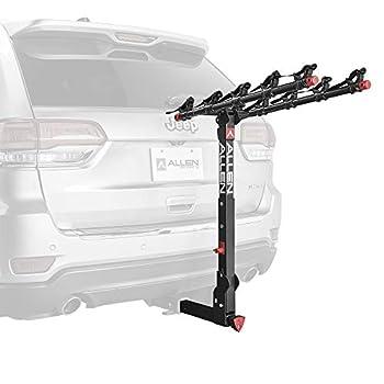 Allen Sports Deluxe+ Locking Quick Release 5-Bike Carrier for 2 in Hitch Model 850QR,Black