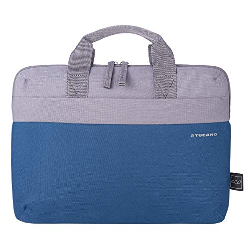"Tucano – Two-tone Slim Bag for laptops up to 14"", compatible with 13"" MacBooks, made of fabric produced from 100% recycled PET plastic bottles"