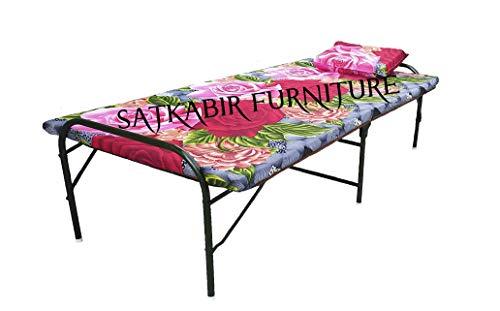 SATKABIR FURNITURES Single Size Plywood Folding Bed with Metal Frame Folding Bed Size (36