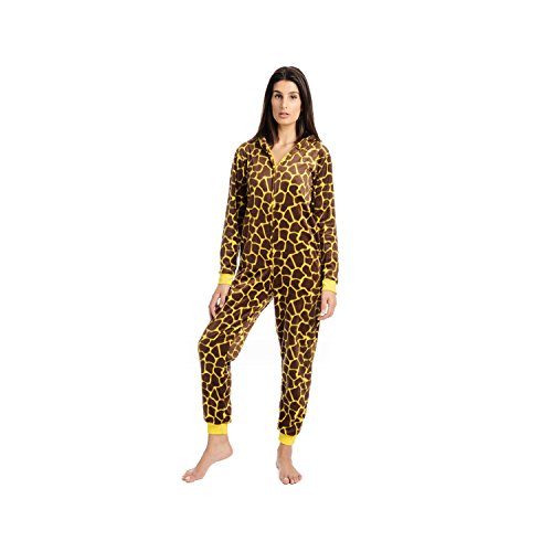 Body Candy Junior's Micro Fleece Critter Onesie with Hood Pajamas for Ladies, brogir, Small