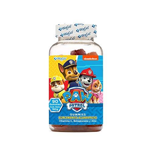 Wago Gummies Wago Paw Patrol Vitamina C, Betaglucano Y Zinc, Bote con 90 Gummies, color, 120 g, pack of aquete de 1