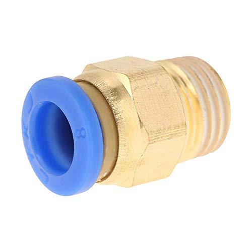 Movilideas 9 Unidades Conector de tubo de aire comprimido de 8mm rosca 1/8' Electroválvula PC8-01