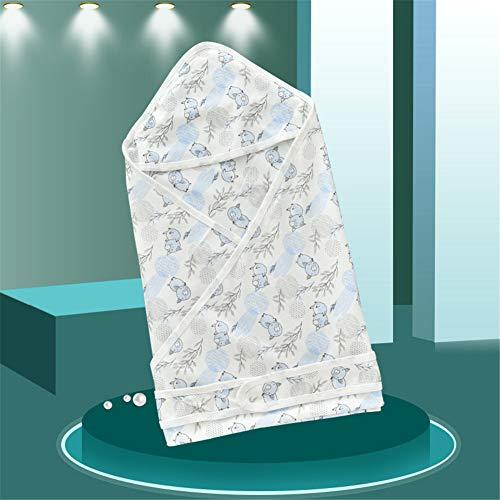 Manta de bambú para recién nacido, con diseño floral, para bebé recién nacido, manta de muselina de bambú, manta unisex para bebé recién nacido, manta para niños y niñas (cerdo azul, 80 x 80 cm)