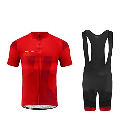 UGLY FROG Completo MTB Uomo, Estivo Maglietta Ciclismo Maniche Corte e Pantaloncini MTB con Cuscino Traspirante XSNL01F