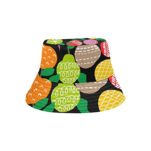 Cappello a Cilindro Estivo Primavera Cappello a Secchiello Frutti Diversi Cappello da Pesca Fantasia colorato Viaggio Pioggia Cappello da Picnic per Studenti Ragazzo
