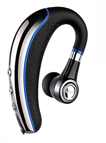 Bluetooth Headset,Ansin A8 Wireless Earpieces V4.1 Bluetooth Headphones Lightweight Earphones in-Ear Earbuds Microphone MuteKey iPhone Android Smart Cellphone-Blue