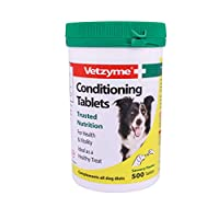 CONDITIONING DOG SUPPLEMENTS - These original Vetzyme tablets provide a natural source of b-complex vitamins that help to guard against nervousness, poor coat and skin trouble and help maintain good health and vitality SUITABLE FOR DOGS AND PUPPIES -...