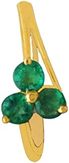 Lagu Bandhu 18k (750) Yellow Gold and Emerald Ring for Women